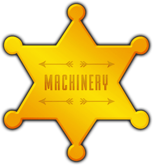 Big Chief Hire Machinery star badge