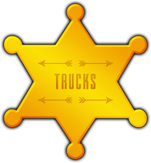 Big Chief Hire Trucks star badge