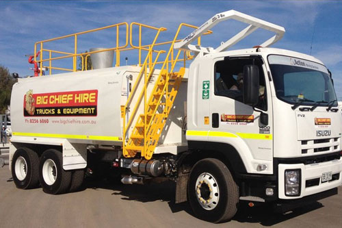Water Cart Truck Hire