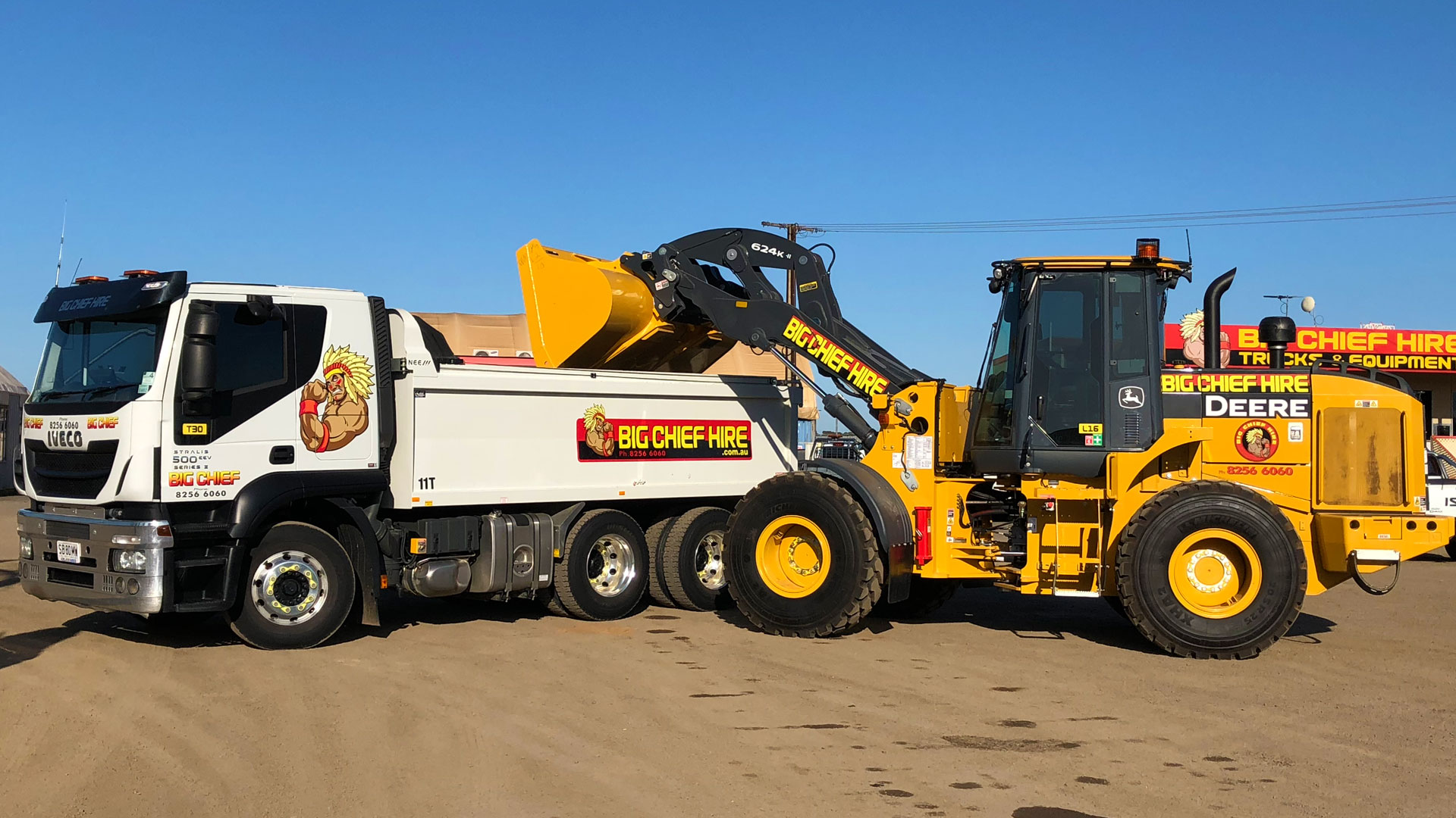 Wheeled Loader With Tipper Truck